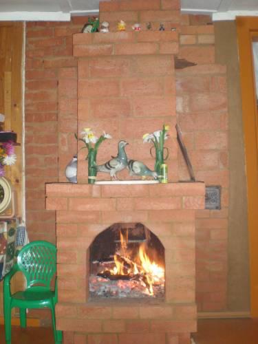 Маленькая печка на даче фото